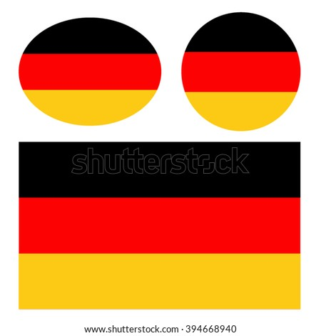 Germany flags, vector illustration