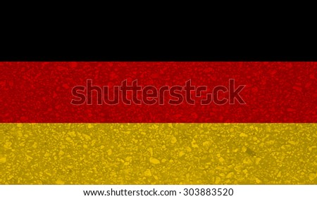 Germany; German; Deutschland, Deutsch flag with grunge texture.Vector template - stock vector