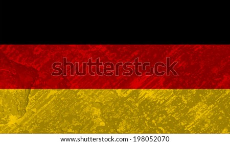 Germany, German flag on concrete textured background - stock vector