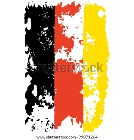 germany grunge flag - stock vector