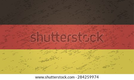 Germany grunge style flag. Vector EPS10 - stock vector