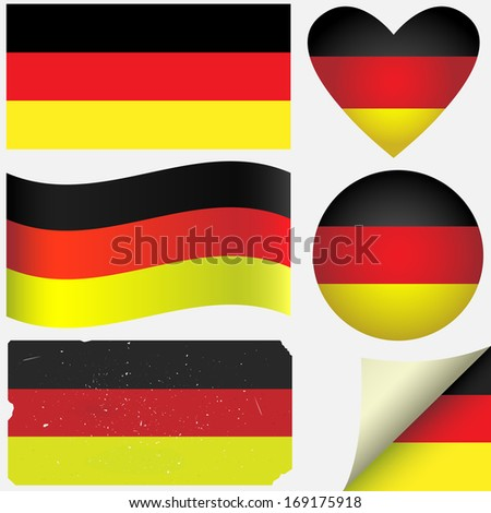 Germany icon set of flags. Fully editable EPS10 vector.