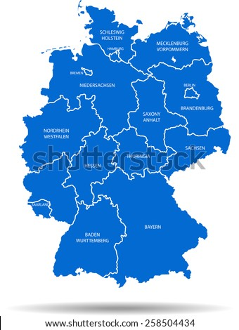 Germany Map Stock Images RoyaltyFree Images Vectors Shutterstock - Germany map pictures