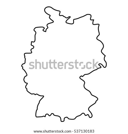 Germany Map Outline Stock Images RoyaltyFree Images Vectors - Germany map outline