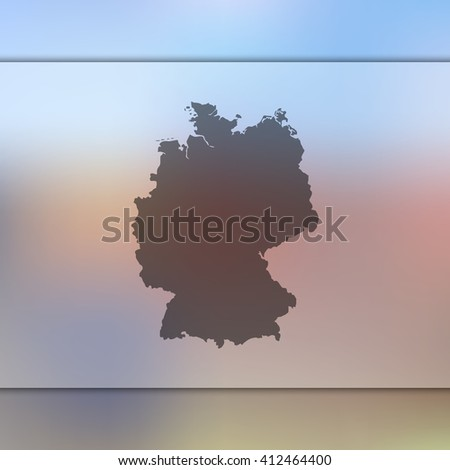 Germany map on blurred background. Blurred background with silhouette of Germany. Germany. Germany map. Blurred background. Silhouette of Germany. Germany vector map. Blurred Germany. Germany flag. - stock vector