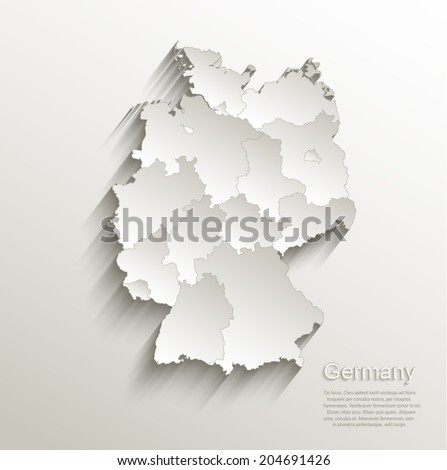 Germany Political Map Card Paper D Stock Vector - Germany political map
