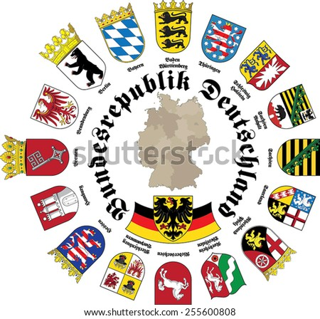 Germany shields - German version - vector - eps 10 - stock vector