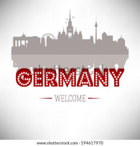 Germany skyline silhouette design, vector illustration. - stock vector