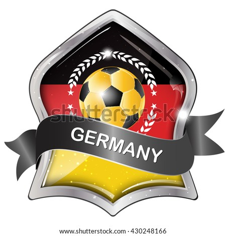 Germany Soccer Elegant Shiny Icon Button Stock Vector Hd Royalty