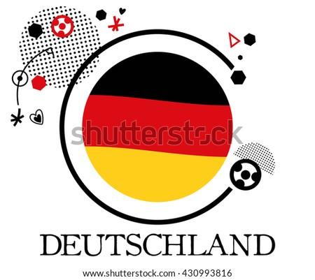 Germany Soccer Symbol 2016 Flat Vector Stock Photo Photo Vector