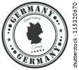 Germany stamp - stock vector