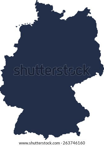 Germany Vector map. High detailed.  - stock vector