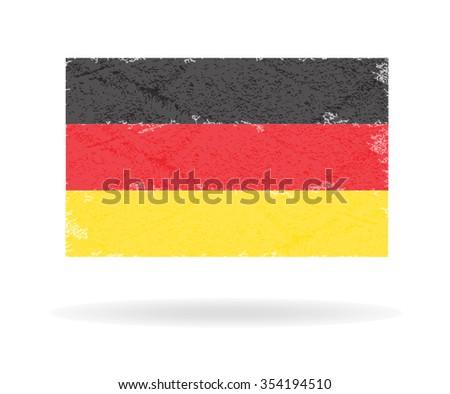 Germany vintage flag, Vector illustration - stock vector
