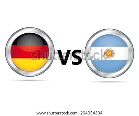 Germany vs Argentina. Sport game vector symbol. - stock vector