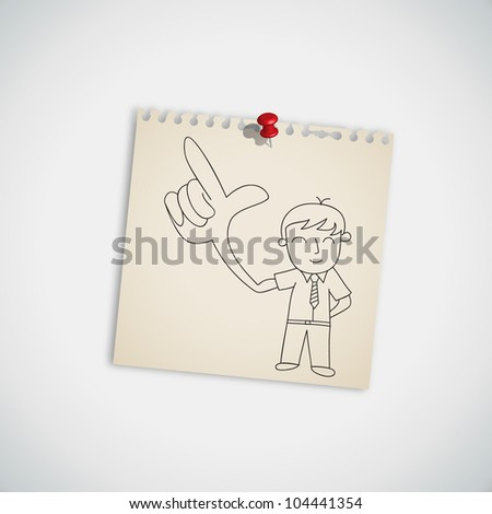 Gesturing Hand Sign Businessman Pointing a Finger Vector - stock vector
