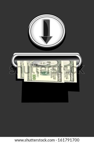 get money-business concept - stock vector