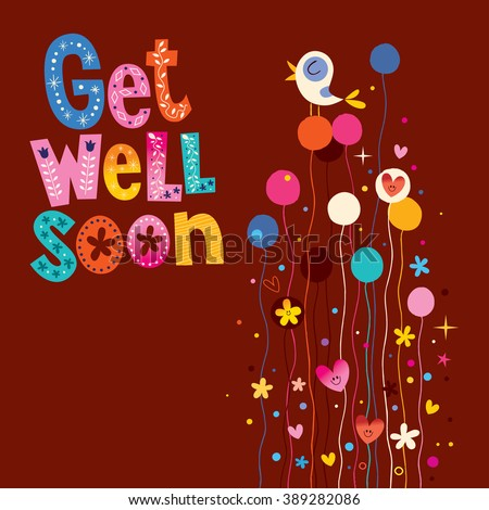Get well soon greeting card stock vector royalty free 389282086 get well soon greeting card m4hsunfo