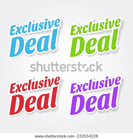 Get Your Deal Colorful Vector Icon Design