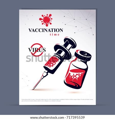 get your flu shot marketing presentation stock vector 717395539 shutterstock. Black Bedroom Furniture Sets. Home Design Ideas