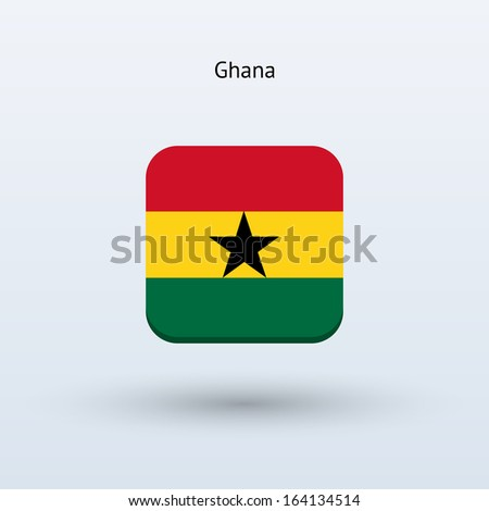 Ghana flag icon. Vector illustration. - stock vector