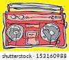 ghetto blaster - stock vector