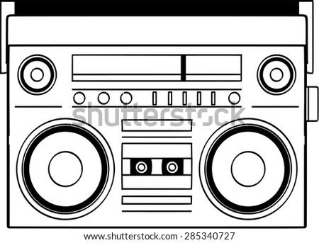 Ghettoblaster stock images royalty free images vectors ghettoblaster vector sciox Images