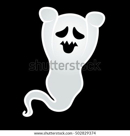 Ghost. Halloween illustration vector