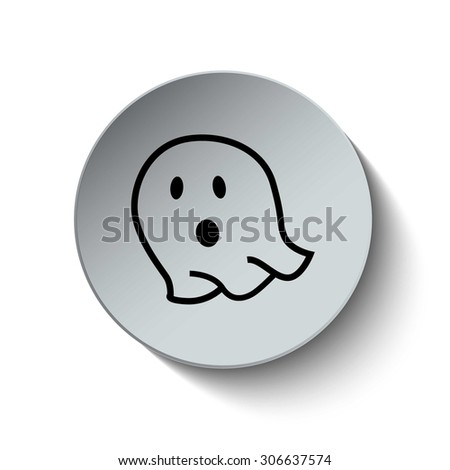 Ghost icon. Halloween Ghost icon. Button. EPS10. Illustration