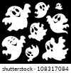 Ghost theme image 1 - vector illustration. - stock vector
