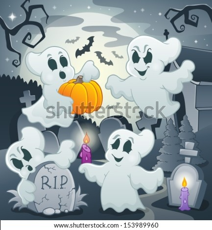 Ghost topic image 4 - eps10 vector illustration.