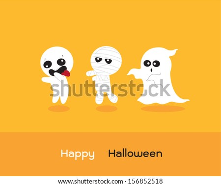 Ghosts - stock vector