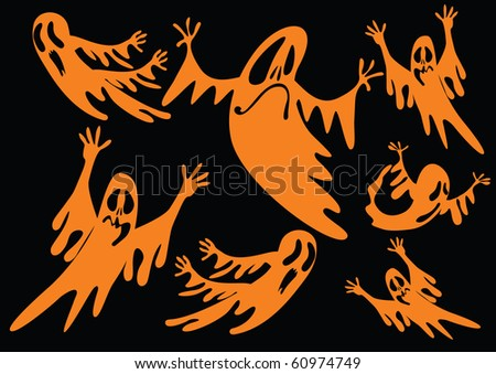 ghosts background - stock vector
