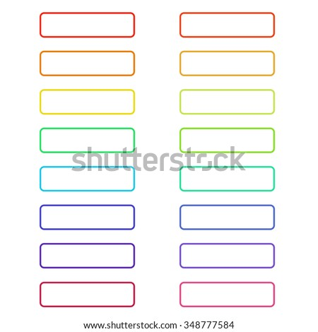 Ghosts buttons colorful set for web design. Vector trendy design.