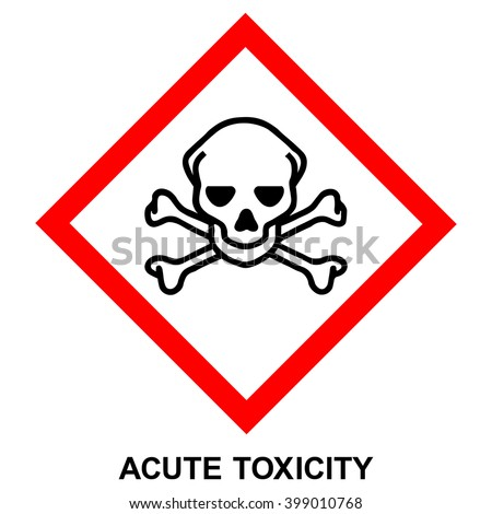 GHS hazard pictogram - ACUTE TOXICITY , hazard warning sign acute toxicity , isolated vector illustration - stock vector