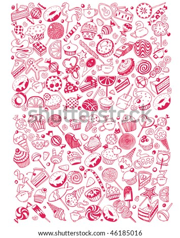 Giant Sweet Party Set (vector) - stock vector