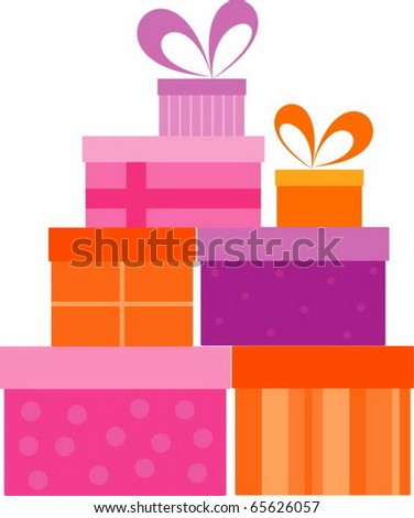 Gift 4 - stock vector