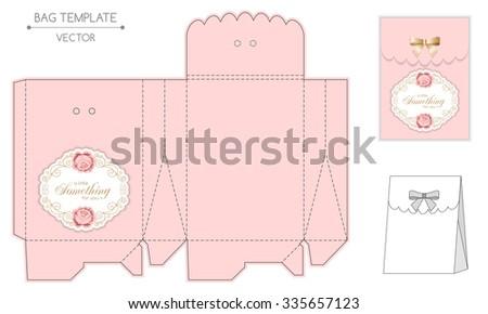 Gift Bag Template Hand Drawn Roses Stock Vector 335657123 - Shutterstock