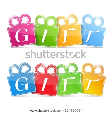 Gift Banners, vector eps10 illustration - stock vector