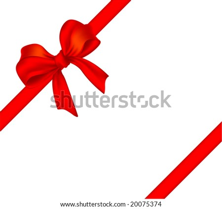Gift bow. Vector decoraTION.