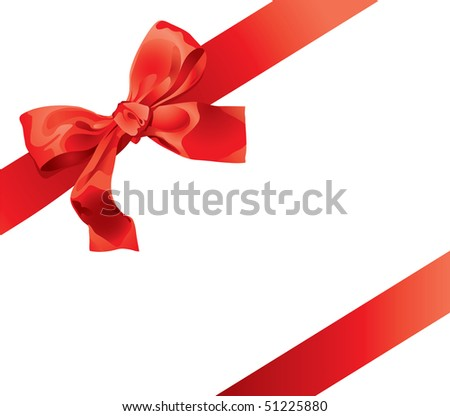 Gift Bow (vector). In the gallery also available XXL jpeg version of this image. - stock vector