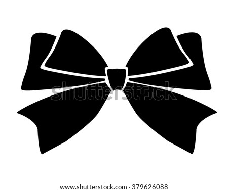 Gift bows with ribbons black color on white background.Bow Vector icon.Bow image.Bow picture.Bow jpeg.Bow jpg.Bow eps10.Bow flat.Bow graphic.Bow object.Bow flat.Bow drawling.Bow vector stock.Bow eps - stock vector
