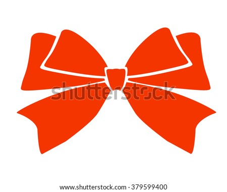 Gift bows with ribbons red color on white background vector illustration - stock vector
