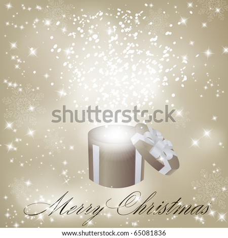 Gift box abstract background. Vector eps10 illustration - stock vector