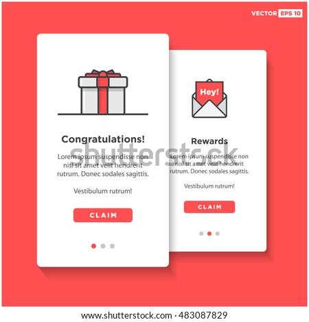 gift box card template ui ux stock vector 483087829 shutterstock