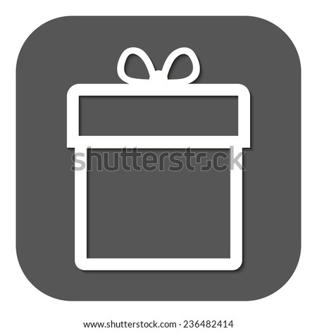 Gift box icon. Present symbol. Flat. Vector illustration - stock vector