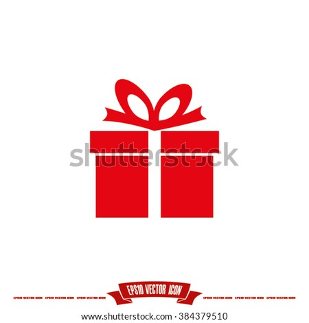 Gift box ribbon flat design banners 196947401 gift box icon vector illustration eps10 negle Images