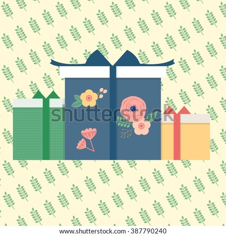 Gift box illustration.