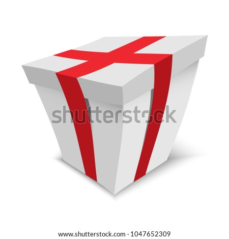 Gift Box Isolated On White Background Stock Vector 1047652309 ...