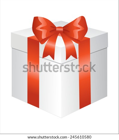 Gift box over white background - stock vector