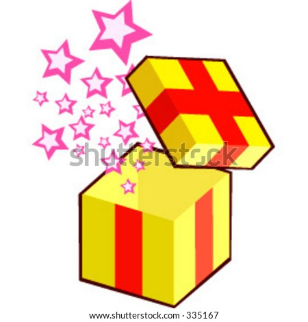 Gift box pops suitable for suprise element. - stock vector